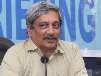 Union Defence Minister Manohar Parrikar.
