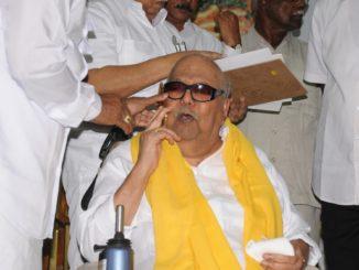 Chennai: DMK supremo  M Karunanidhi