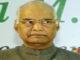 president elect Ram Nath Kovind .