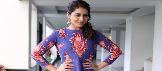 Hyderabad: Stills from actress Raashi Khanna in Hyderabad.