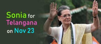 Sonia Gandhi to campaign in Telangana on November 23