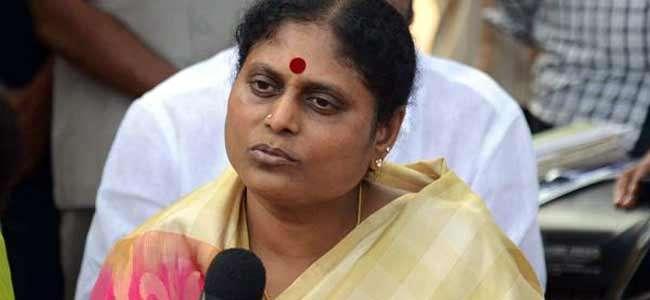 ys vijayamma comments on chandrababu